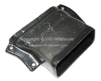 Genuine VW plastic fresh air duct to under dash heater box Left Used 68-79 - OEM PART NO: 221259219A