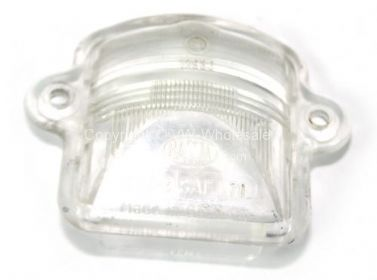 Genuine Hella or HASSIA number plate light lens Used 8/63-79 - OEM PART NO: 311943121USED