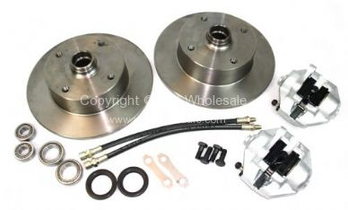 Complete front disc kit 4x130 T1 & Ghia 67-79 - OEM PART NO: 111372811KIT