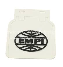 Empi mdflaps White with Black Empi logo for Beetle - OEM PART NO: