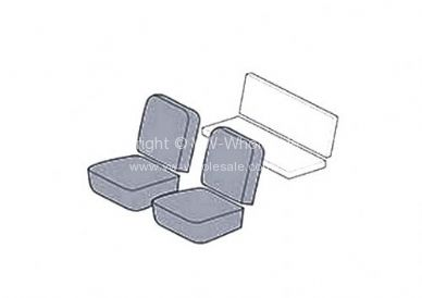 Seat covers front 4pc KG coupe 66-67 smooth combo - OEM PART NO: 431503OEM