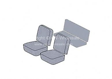 Seat cover set 6 pce KG coupe 68 US smooth combo - OEM PART NO: 431525OEM