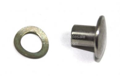German quality safari slider bracket rivet & washer 2 needed per frame 55-79 - OEM PART NO: 211847495