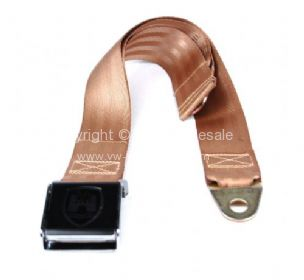 Lapbelt 2 point with chrome and black buckle and Wolfsburg crest Beige - OEM PART NO: 111760988BC