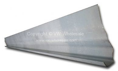 Correct fit roof gutter repair section with small roof section 1.25 meter 68-79 - OEM PART NO: 211817310A