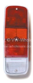 Red and clear rear light lens Bus 8/71-79 - OEM PART NO: 211945241R