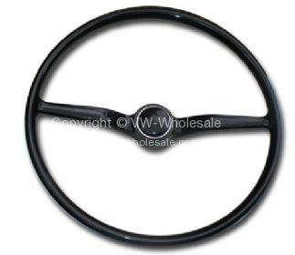 Steering wheel and horn button complete 74-79 - OEM PART NO: 211415655B