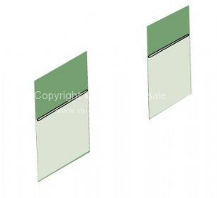 TMI Partition Panel Kit for bench seat model in Phosphor/Camo green 61-63 - OEM PART NO: 221867707AGN