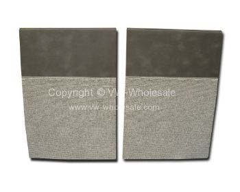 TMI Partition Panel Kit for bench seat model in Dark grey/Mesh grey 65-67 - OEM PART NO: 221867707EGY