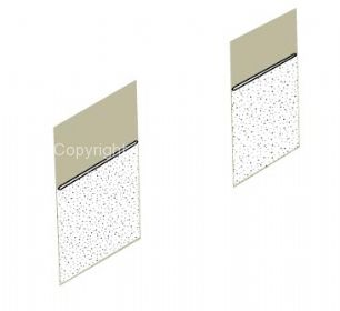 TMI Partition Panel Kit for walk through models in Basalt grey/Silver beige 61-63 - OEM PART NO: 221867707BSB