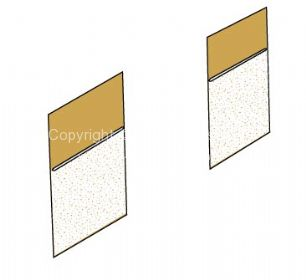TMI Partition Panel Kit for walk through models in Silver platinum/Mesh Platinum 66-67 - OEM PART NO: 241867707FPL