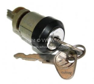 Genuine VW ignition barrel and key Used Bus 71-79 - OEM PART NO: 211905855C