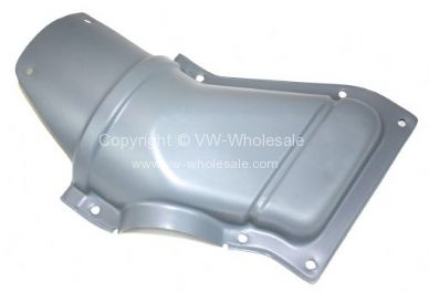 Genuine VW Used metal heater duct cover Left 8/72-79 - OEM PART NO: 211259213