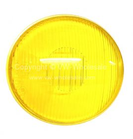 German quality yellow Hella headlamp glass early Bus - OEM PART NO: 211941115F