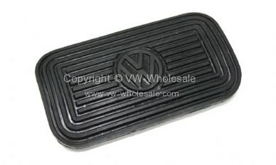 NOS Genuine VW brake & automatic Pedal rubber with VW logo 8/72-79 - OEM PART NO: 311723173