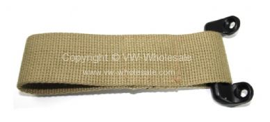 German quality short check strap & bracket beige Bus 61-67 - OEM PART NO: 211841388A