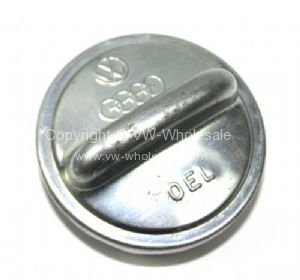 NOS Genuine VW fuel cap with gasket T2 55-67 or Oil cap All 47-79 - OEM PART NO: 056103485