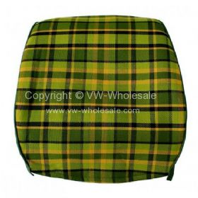 Westfalia late bay full back seat cover in green plaid - OEM PART NO: 231885252G