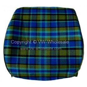 Westfalia late bay full back seat cover in blue plaid  - OEM PART NO: 231885252BL