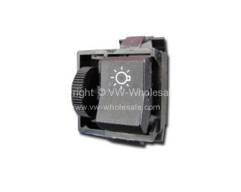 German quality headlamp switch with dimmer T25 80-91 - OEM PART NO: 251941531M